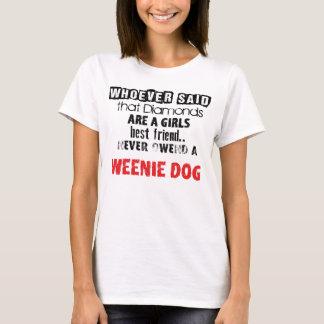 "T-shirt of ""Diamond Girl´s best friend"" Weenie Dog"