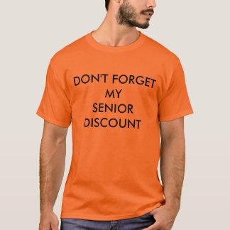 T-SHIRT, ORANGE, SENIOR DISCOUNT T-Shirt