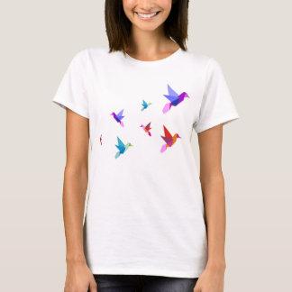 T-shirt origami hummingbirds