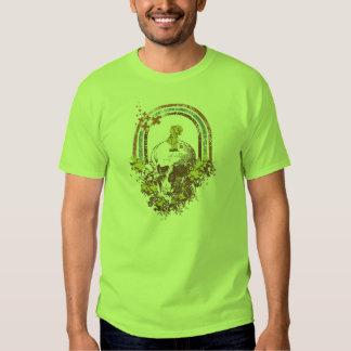 T-shirt Originart Green Skull