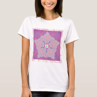 T-Shirt - Purple Star Fractal Pattern