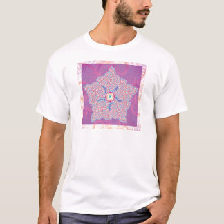 T-Shirt - Purple Star Fractal Pattern