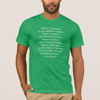 T-Shirt Quotation about Nature by Lord Byron