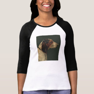 T-shirt reproduction vintage dog painting