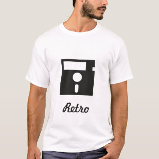 t-shirt retro floppy disk