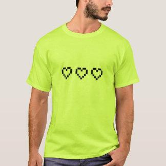 t-shirt,retro heart,green T-Shirt