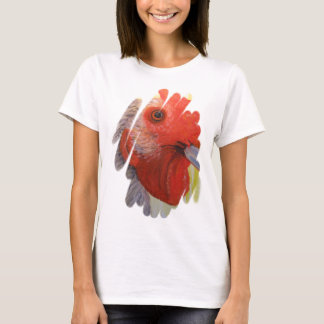 T-Shirt - Rooster/Chicken Art - Rose Bud