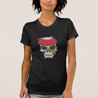 t-shirt skull with red bandana