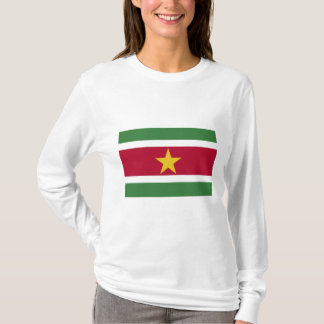 T-shirt Surinamese flag with long sleeves