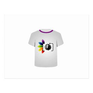 T Shirt Template- digital camera Postcard