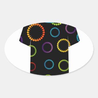 T Shirt Template- flora Oval Sticker