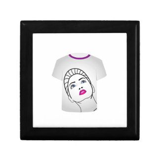 T Shirt Template- Glamor Model Keepsake Box