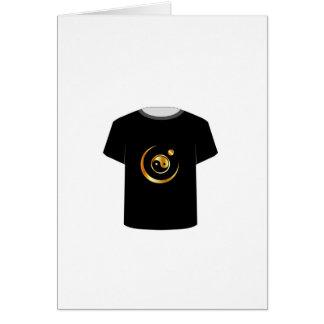 T Shirt Template- yin yang symbol Greeting Card