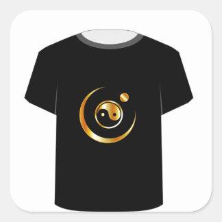 T Shirt Template- yin yang symbol Square Sticker