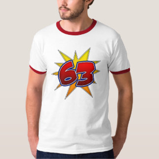 T-Shirt The Number 63 Red with Yellow Burst