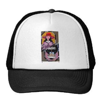 T Shirt Top Card Lady Trucker Hat