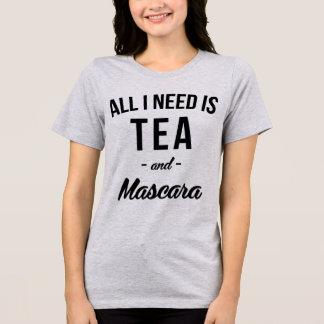 T-Shirt Tumblr All I Need Is Tea and Mascara