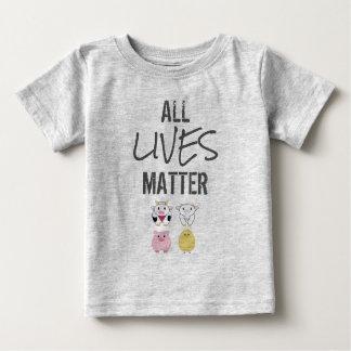 T-shirt Vegana - All LIVES to matter