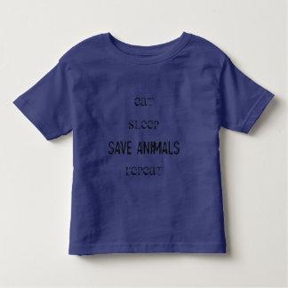 T-shirt Vegana - Eat, Sleep, Save Animals, Repeat