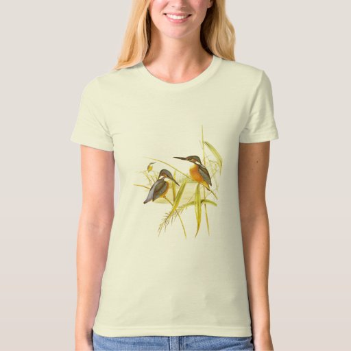 T-Shirt Vintage Kingfisher Birds 1850-54