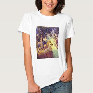T-Shirt:  Waterfall - by Maxfield Parrish T Shirt