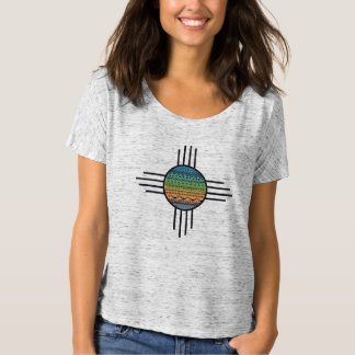 T-shirt with Aztec printing