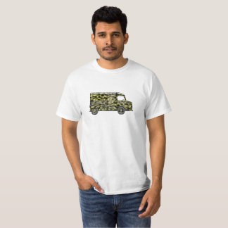 T-shirt with Citroën HY bus in camouflage