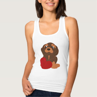 T-shirt with dog pattern.