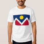 T Shirt with Flag of Denver, Colorado State, USA