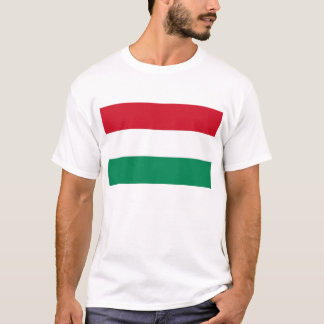 T Shirt with Flag of Hungary