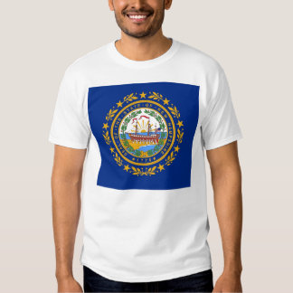 T Shirt with Flag of  New Hampshire State USA