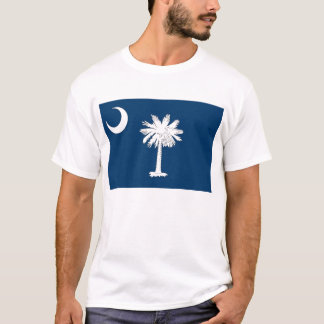 T Shirt with Flag of South Carolina State USA