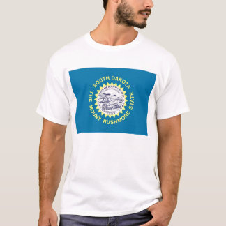 T Shirt with Flag of South Dakota State USA