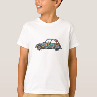 T-shirt with flower power Citroën Dyane