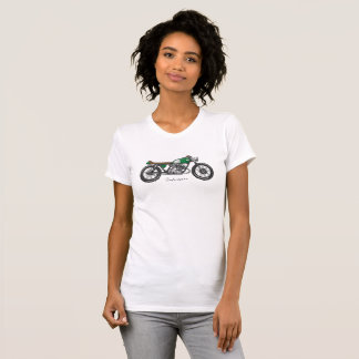 T-shirt with image bar racecar driver in green