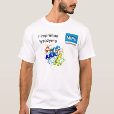 Shirt featuring the template Lysozyme