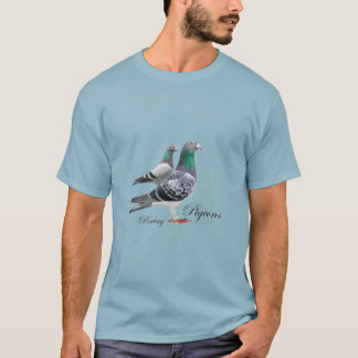 T-shirt with pair of carrier pigeons