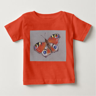T-Shirt with Peacock Butterfly Design