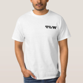 t-shirt with signature logo on back