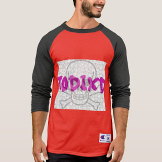 T-shirt with sleeves of raglan Red/black