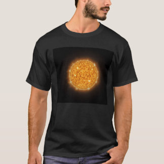 T-shirt with the image of the sun in the space