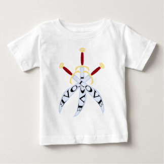T-shirt with three crossed_sword print