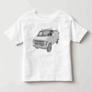 T-shirt with van and dog