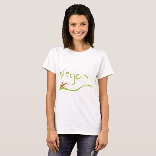 t-shirt with vegan message