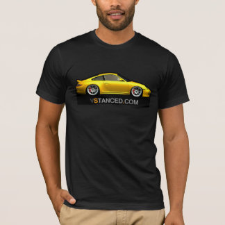 T-Shirt with yellow porshe 911