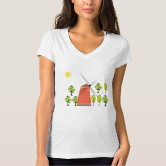 T-shirt wooden windmill in Finland
