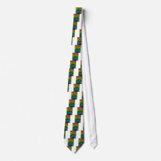 t-shirts and Colorful Waves lines art design gifts Tie