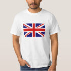 T Shirts with British Union Jack flag