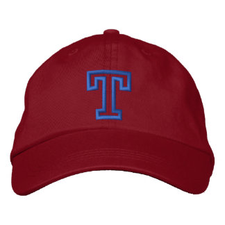 """T"" Small Athletic Letter Embroidered Hat"