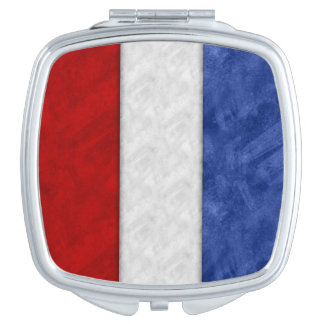 T Tango Watercolor Nautical Signal Maritime Flag Vanity Mirror